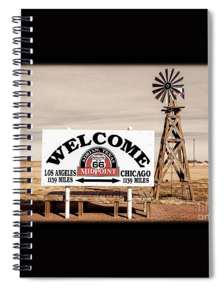 Route 66 Midpoint  Spiral Notebook