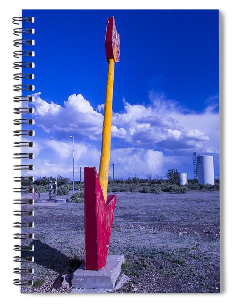 Route 66 Red Arrow Spiral Notebook