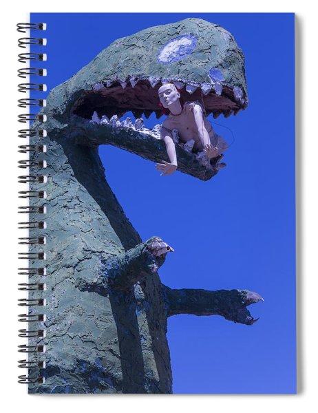 Route 66 Roadside Dinosaur Spiral Notebook