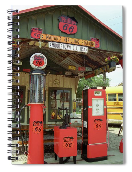 Route 66 - Shea's Gas Station Spiral Notebook