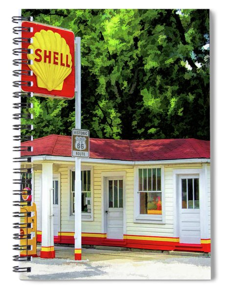 Route 66 Soulsby Service Station Spiral Notebook