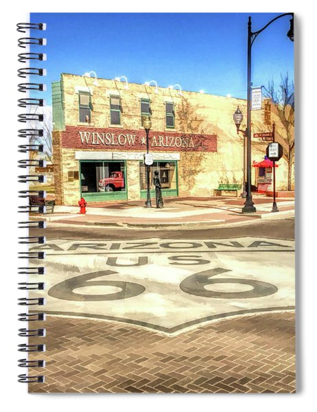 Route 66 Standing On The Corner In Winslow Arizona Street Spiral Notebook