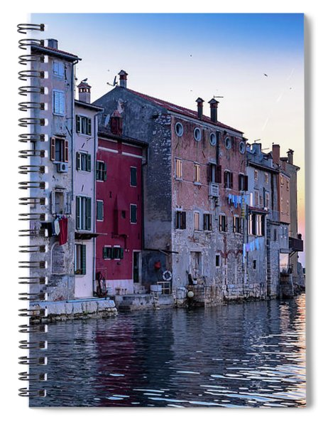 Rovinj Old Town On The Adriatic At Sunset Spiral Notebook