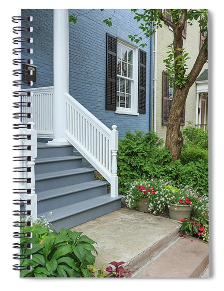 Row Of Historic Row Houses Spiral Notebook
