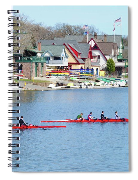 Rowing Along The Schuylkill River Spiral Notebook