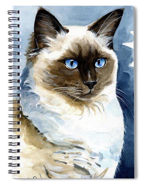 Roxy - Ragdoll Cat Portrait Spiral Notebook