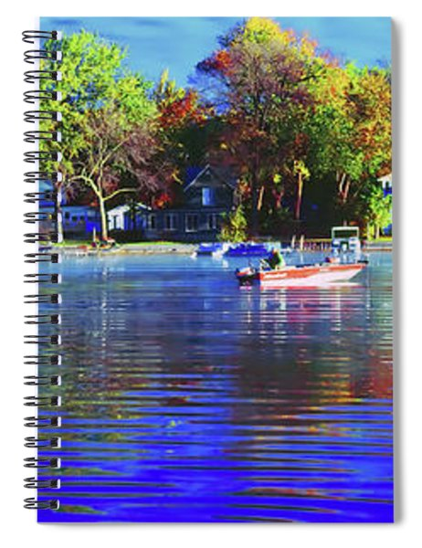 Roy And Boat Fall Fishing Spiral Notebook