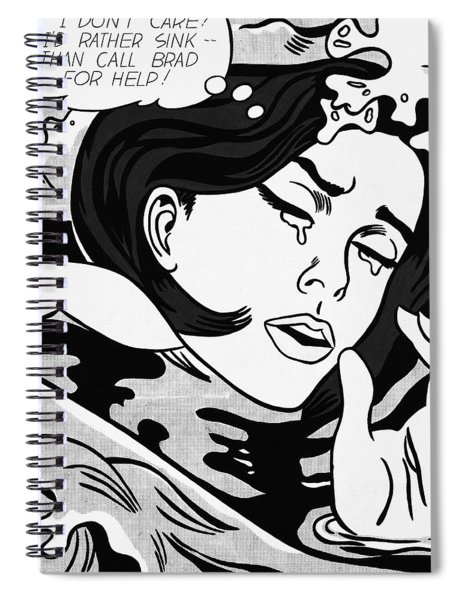 Drowning Girl  Spiral Notebook