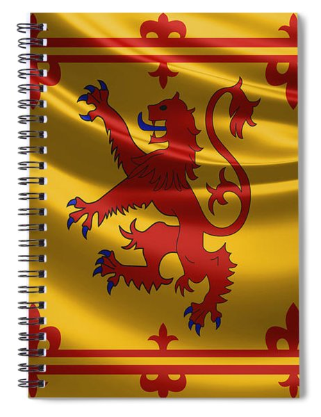 Royal Banner Of The Royal Arms Of Scotland Spiral Notebook