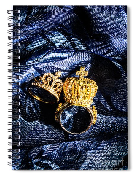 Royal Blue Couple Spiral Notebook
