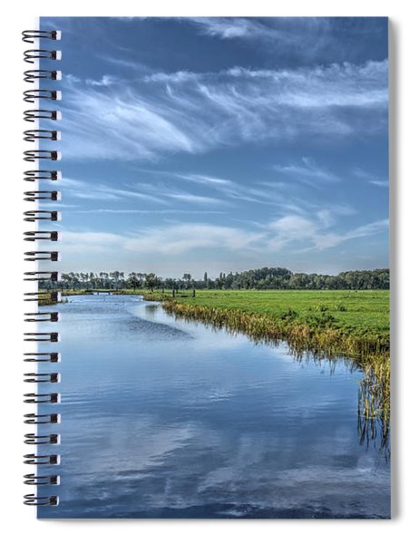 Royal Canal And Grasslands Spiral Notebook