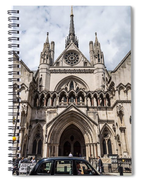 Royal Courts Of Justice In London Spiral Notebook