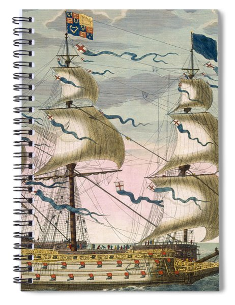 Royal Flagship Of The English Fleet Spiral Notebook