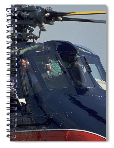 Spiral Notebook featuring the photograph Royal Helicopter by Travel Pics