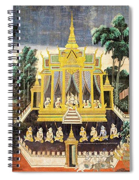 Royal Palace Ramayana 10 Spiral Notebook