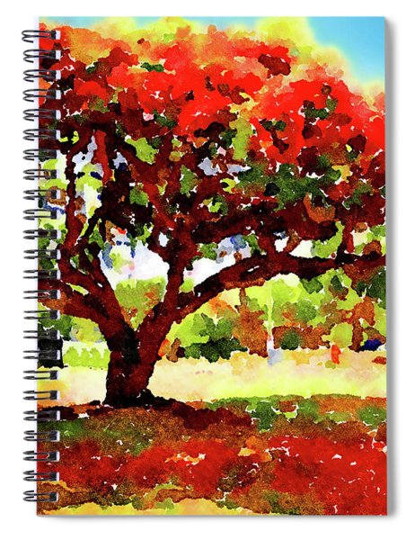 Royal Red Spiral Notebook