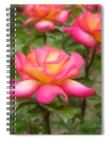 Spiral Notebook featuring the digital art r.'Rainbow Sorbet' 86384d by Brian Gryphon