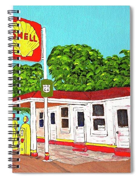 Rt 66 Shell Station Spiral Notebook