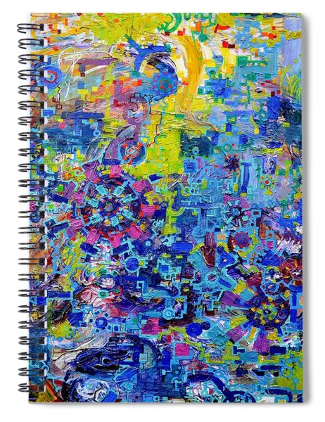 Rube Goldberg Abstract Spiral Notebook