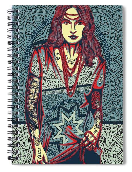 Rubino Red Lady Spiral Notebook