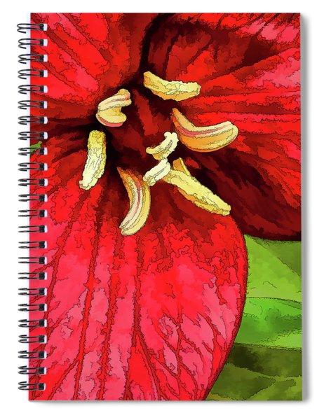 Ruby Red Trillium Spiral Notebook