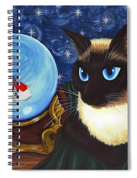 Rue Rue's Fortune - Siamese Cat Koi Spiral Notebook
