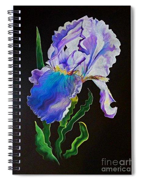 Ruffled Iris Spiral Notebook