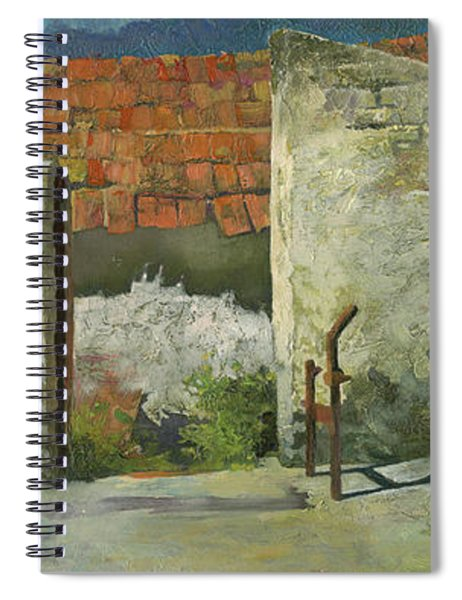 Ruins Of Farm In Hungary Spiral Notebook