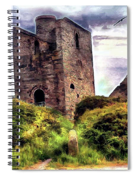 Ruins Of The Old Tin Mine Spiral Notebook