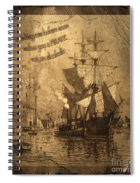 Rum Is The Reason Spiral Notebook