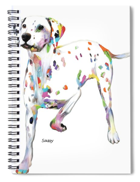Running Dalmatian Spiral Notebook