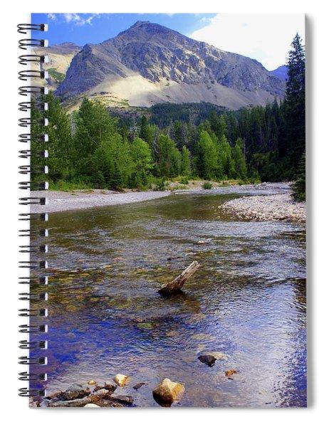 Running Eagle Creek Glacier National Park Spiral Notebook