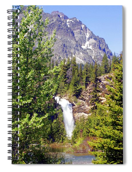 Running Eagle Falls Glacier National Park Spiral Notebook