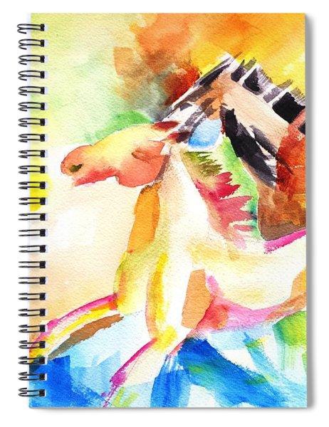 Running Horses Color Spiral Notebook