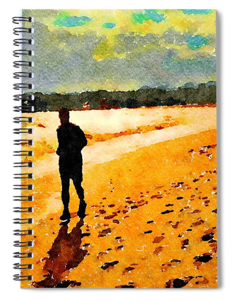 Running In The Golden Light Spiral Notebook