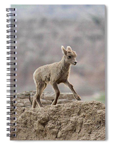 Running Wind Through The Badlands Spiral Notebook