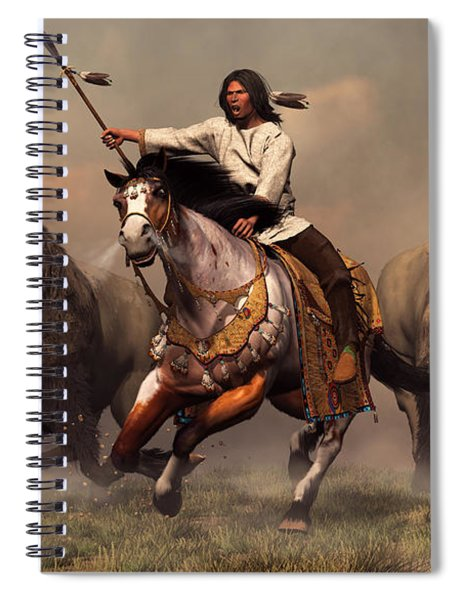 Running With Buffalo Spiral Notebook