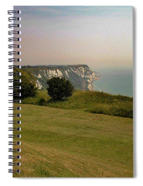 Rural Coastline, Folkestone, Kent, England Spiral Notebook