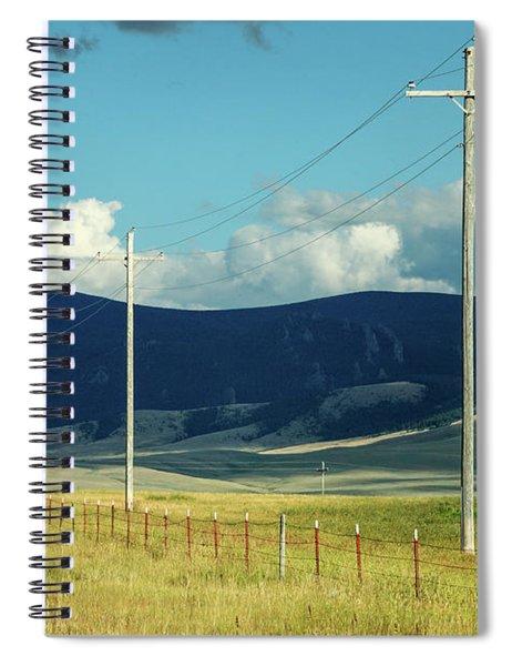 Rural Power Line Spiral Notebook