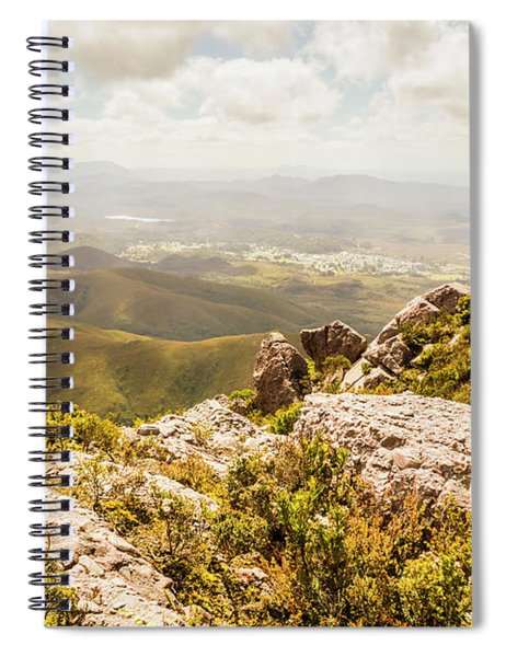 Rural Town Valley Spiral Notebook