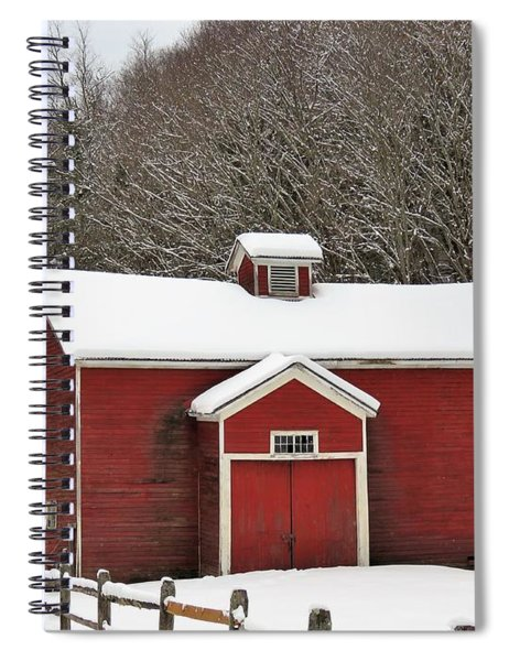 Rural Winter Spiral Notebook