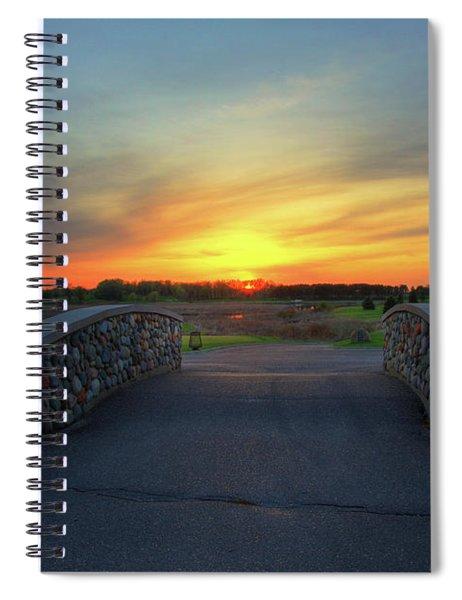 Rush Creek Golf Course The Bridge To Sunset Spiral Notebook