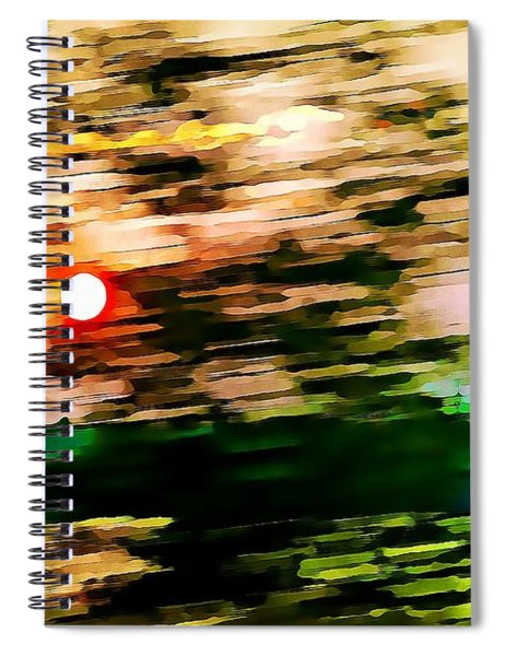 Rush To Go Home Spiral Notebook