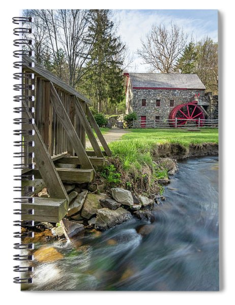 Rushing Water At The Grist Mill Spiral Notebook