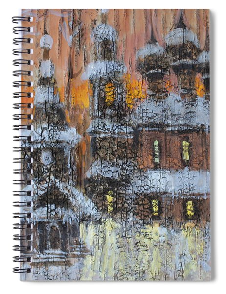 Russian Church Under Snow Spiral Notebook