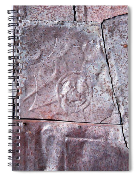 Rusted Tin Spiral Notebook