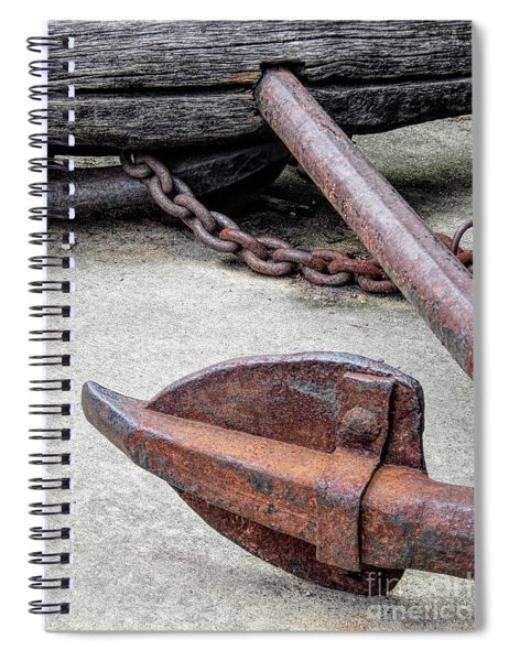 Rustic Anchor Spiral Notebook