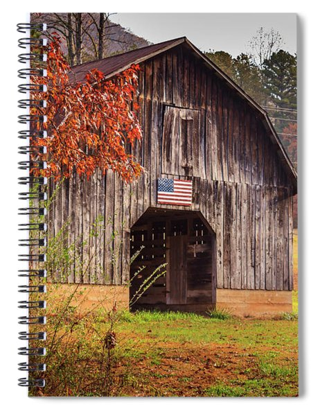 Spiral Notebook featuring the photograph Rustic Barn In Autumn by Doug Camara