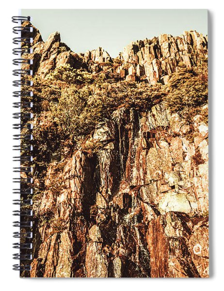 Rustic Cliff Spring Spiral Notebook