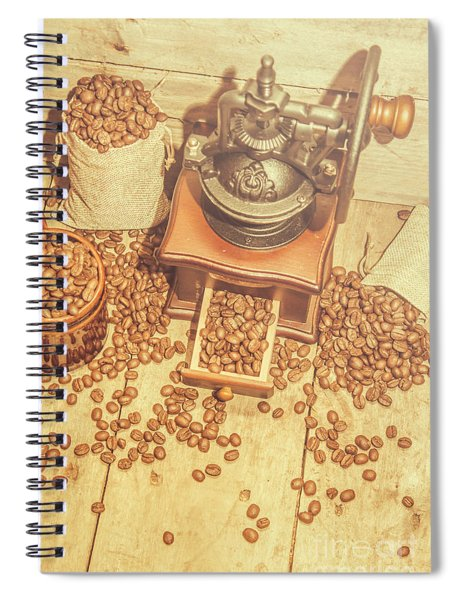 Rustic Country Coffee House Still Spiral Notebook